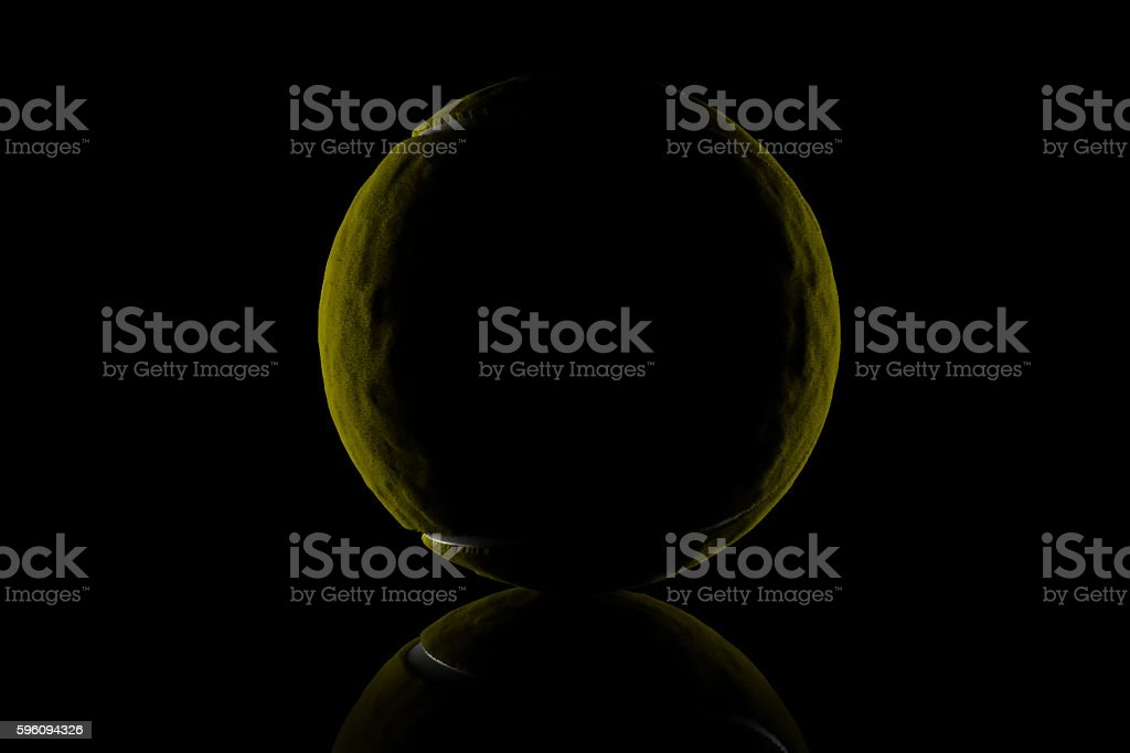 3d rendering of low key tennis ball royalty-free stock photo