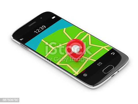 610119450 istock photo 3d rendering of mobile phone with map and gps 587509792
