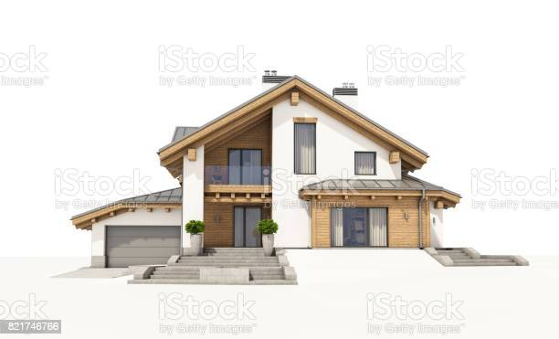 3d rendering of modern cozy house in chalet style picture id821746766?b=1&k=6&m=821746766&s=612x612&h=bt9m05 vbfe abk1g6bixlzjbkj25vwd giuwcwufdq=