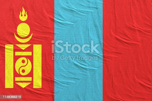 istock 3d rendering of Mongolia flag 1148366315