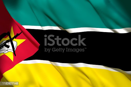 istock 3d rendering of Mozambique flag 1152627145