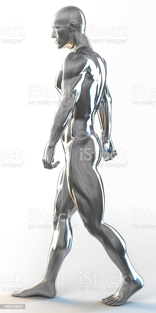 3d rendering of muscular man walking – Foto