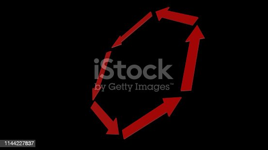 1144228372 istock photo 3d rendering of red arrow icon on white background 1144227837