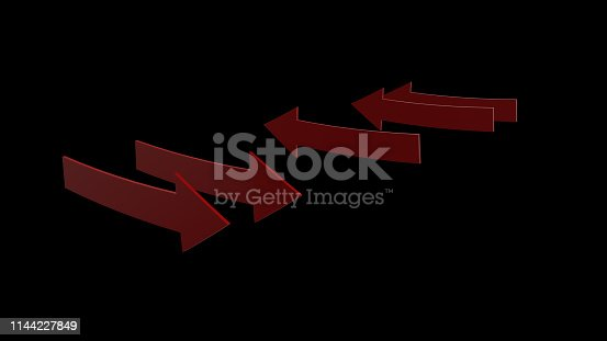 1144228424 istock photo 3d rendering of red arrow icon on white background 1144227849