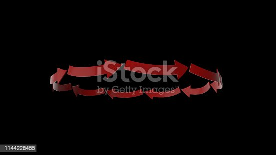 1144228424 istock photo 3d rendering of red arrow icon on white background 1144228455