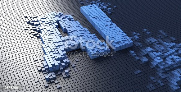 istock 3d rendering of small blue boxes forming the AI letters Artificial intelligence - Illustration 1087829614