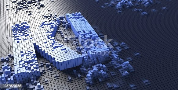 istock 3d rendering of small blue boxes forming the KI letters German word k nstliche intelligenz - Illustration 1087829586