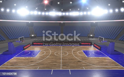 517960203istockphoto 3d rendering of the basketball stadium with lights 1014404736