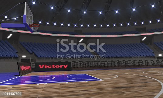 517960203istockphoto 3d rendering of the basketball stadium with lights 1014407504