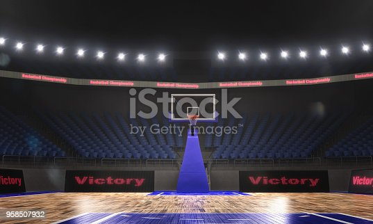 517960203istockphoto 3d rendering of the basketball stadium with lights 958507932