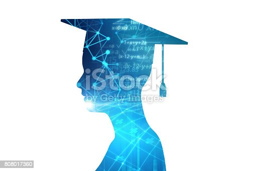 istock 3d rendering of virtual human silhouette on technology background illustration 808017360