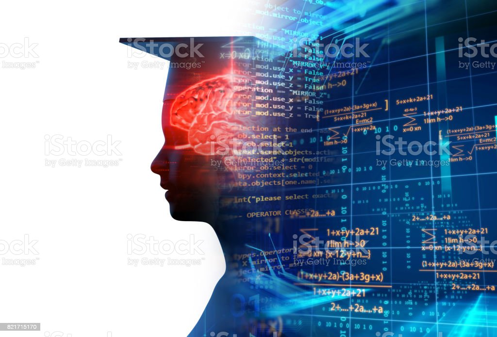3d rendering of virtual human silhouette on technology background illustration stock photo