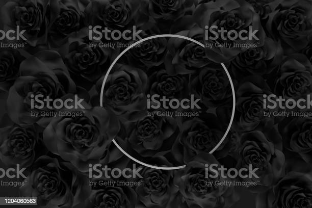 3d rendering of white circle frame over a lot black roses flat lay of picture id1204060563?b=1&k=6&m=1204060563&s=612x612&h=ottvvi4sy16upth3xtq14rnzcvm8gjmltfgmwp2mmt0=