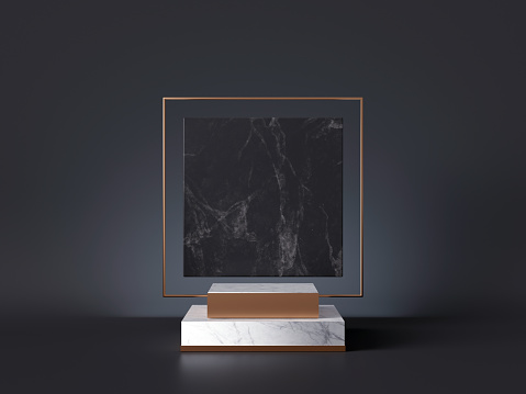 istock 3d rendering of white pedestal steps isolated on black, square marble background, memorial board, art deco geometric frame, abstract minimal concept, blank space, clean design, minimal fashion mockup 1178311248