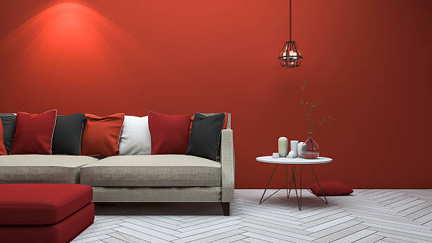 136 Living Room Ideas With Red Sofa Background Stock Photos Pictures Royalty Free Images Istock