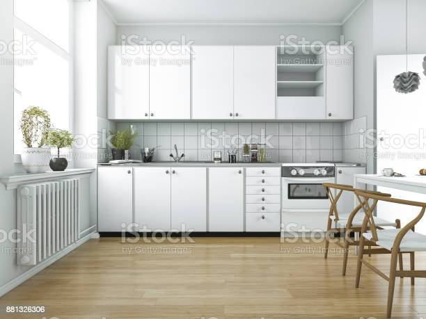 3d rendering scandinavian vintage kitchen with dining table picture id881326306?b=1&k=6&m=881326306&s=612x612&h=ssbvfjk upi3mfjpvminqxluhbpz qgckiqjxvrop3c=