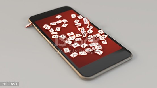 545576042 istock photo 3d rendering smartphone spam messaging icons 867305590