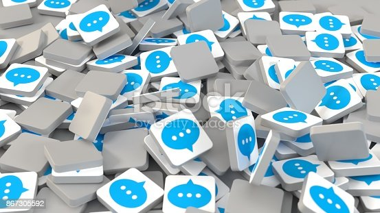 545576042 istock photo 3d rendering smartphone spam messaging icons 867305592