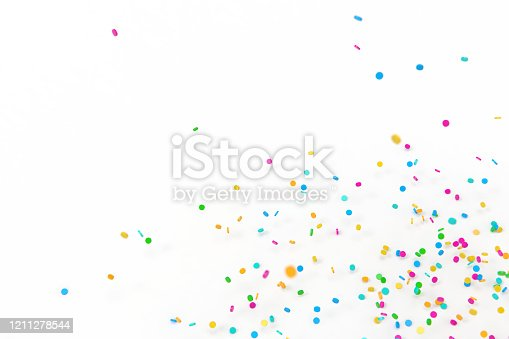 3d rendering sprinkles white background