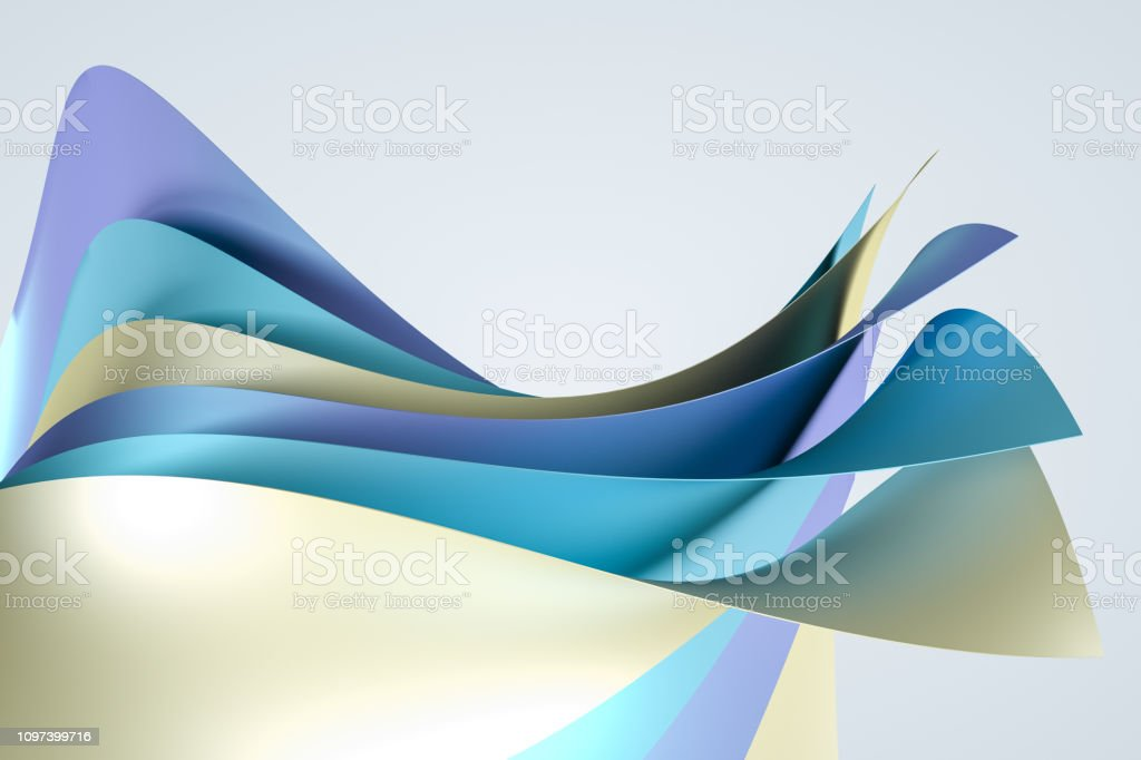3d rendering, surface and colorful graphic design background royalty-free stock photo