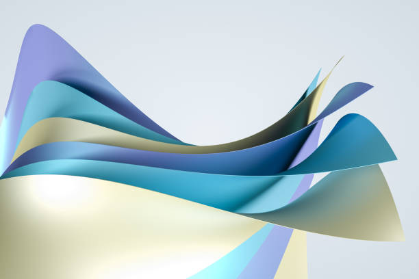 3d rendering, surface and colorful graphic design background stock photo