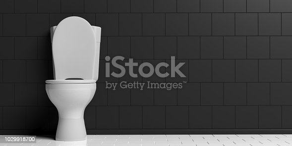 3d rendering white toilet bowl