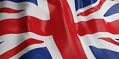 3d rendering United Kingdom flag waving