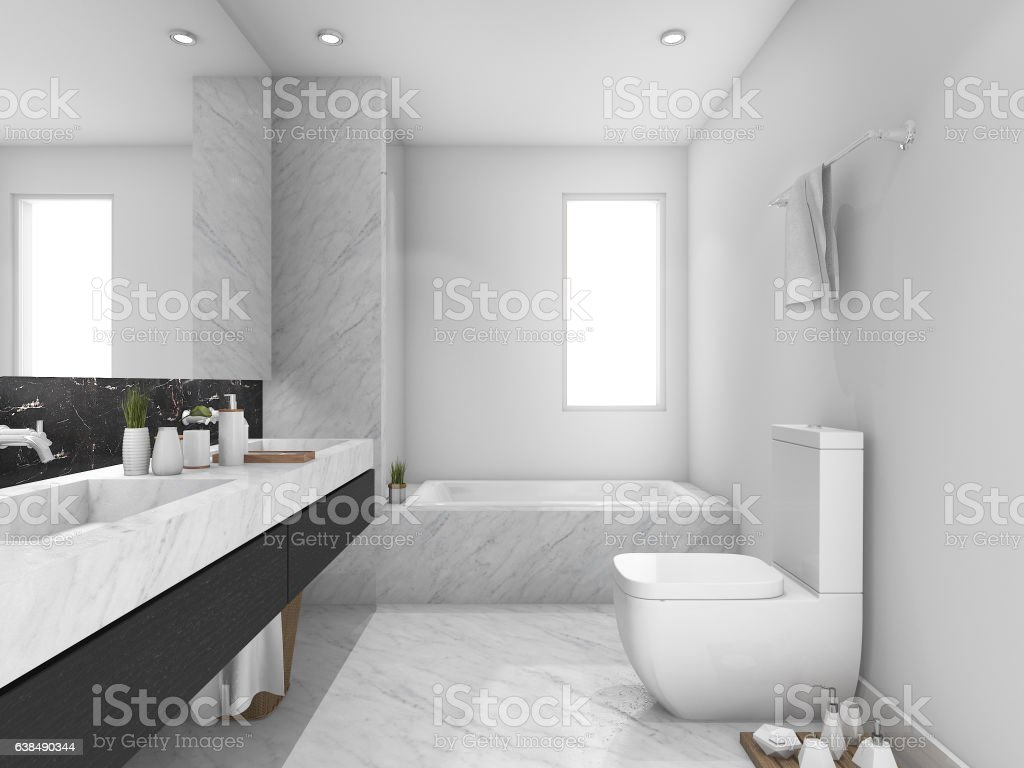 black and white marble bathrooms 3d rendering white and black marble toilet and bathroom 22746
