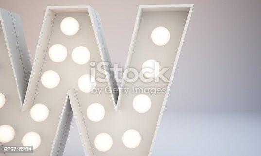 istock 3d rendering white bulb type background illustration 629745254