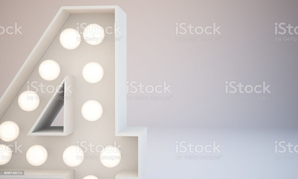 3d rendering white bulb type background illustration stock photo