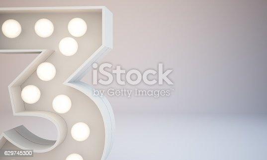 istock 3d rendering white bulb type background illustration 629745300