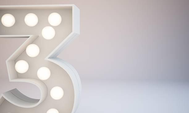 3d rendering white bulb type background illustration - terceira imagens e fotografias de stock
