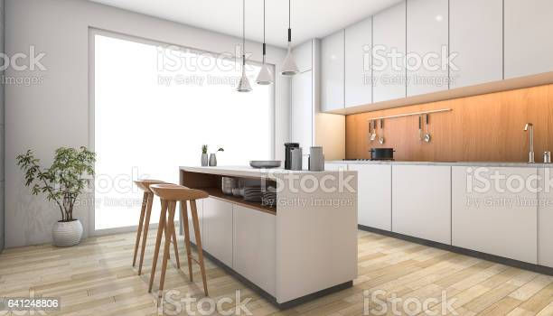 3d rendering white modern kitchen with wood bar picture id641248806?b=1&k=6&m=641248806&s=612x612&h=qjdmwcnqftnfxjimbkiweqmzv w6me4zii 93smeeea=