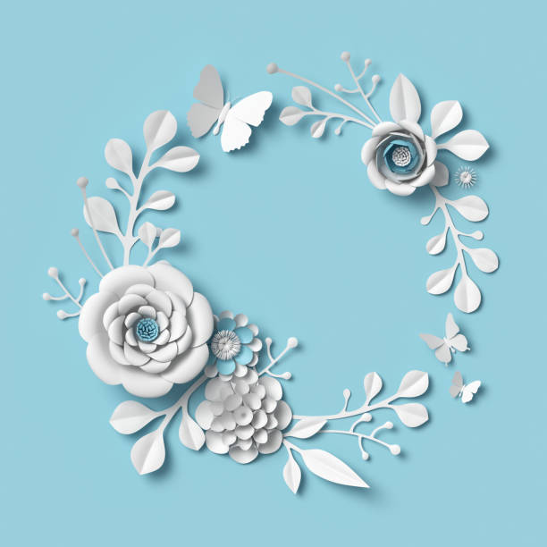 3d rendering white paper flowers on blue background isolated clip picture id924787116?b=1&k=6&m=924787116&s=612x612&w=0&h=c8 h7ygf7gvmxvgoiardtdyw 7xal0gwiw obinzcxi=