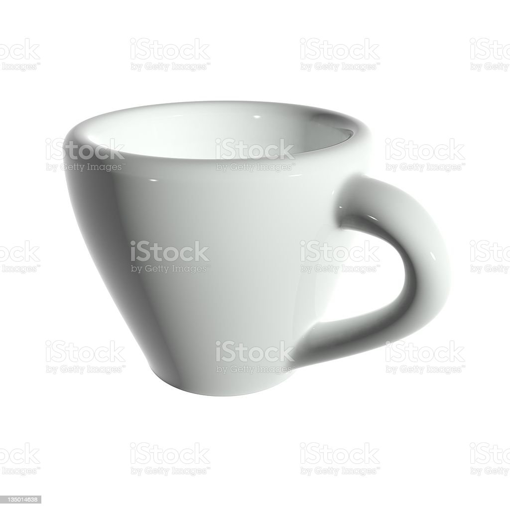 3d rendering white tea cup isolated without shadow royalty-free stock photo