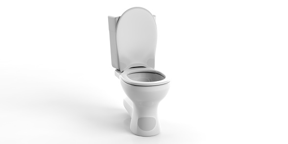 3d rendering toilet bowl on white background