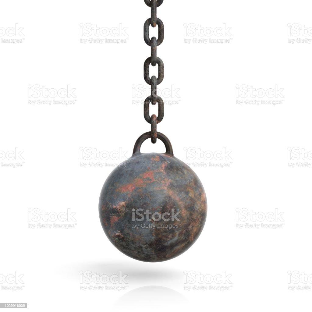bola de demolición de renderizado 3D - foto de stock