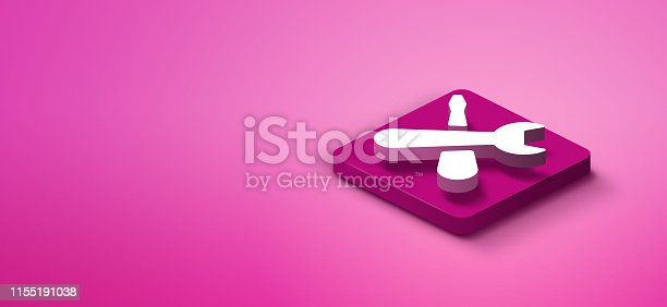1155191162istockphoto 3d repair sign on pink abstract background 1155191038
