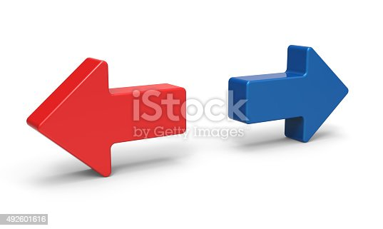 838721578 istock photo 3d right and left arrow 492601616