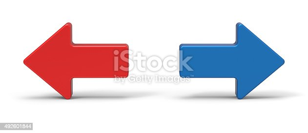 838721578 istock photo 3d right and left arrow 492601844