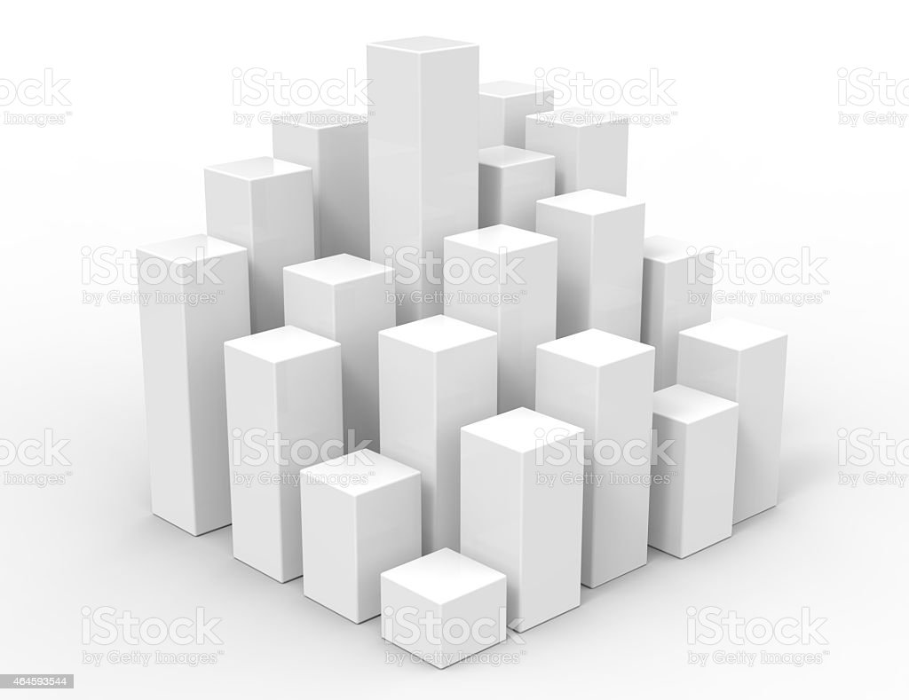 3d rising cubes stock photo