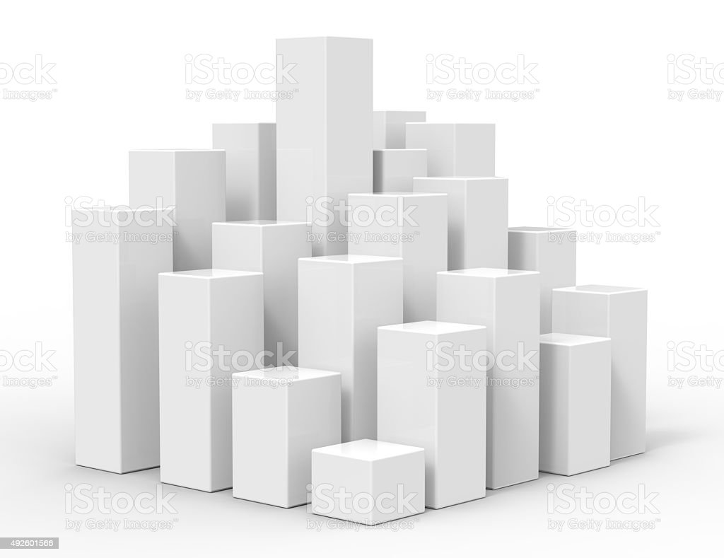 3d rising cubes stock photo