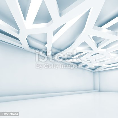 623616378 istock photo 3d room, decorative ceiling light system 635850414