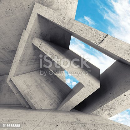 516688156istockphoto 3d room interior with chaotic cubic structures 516688888