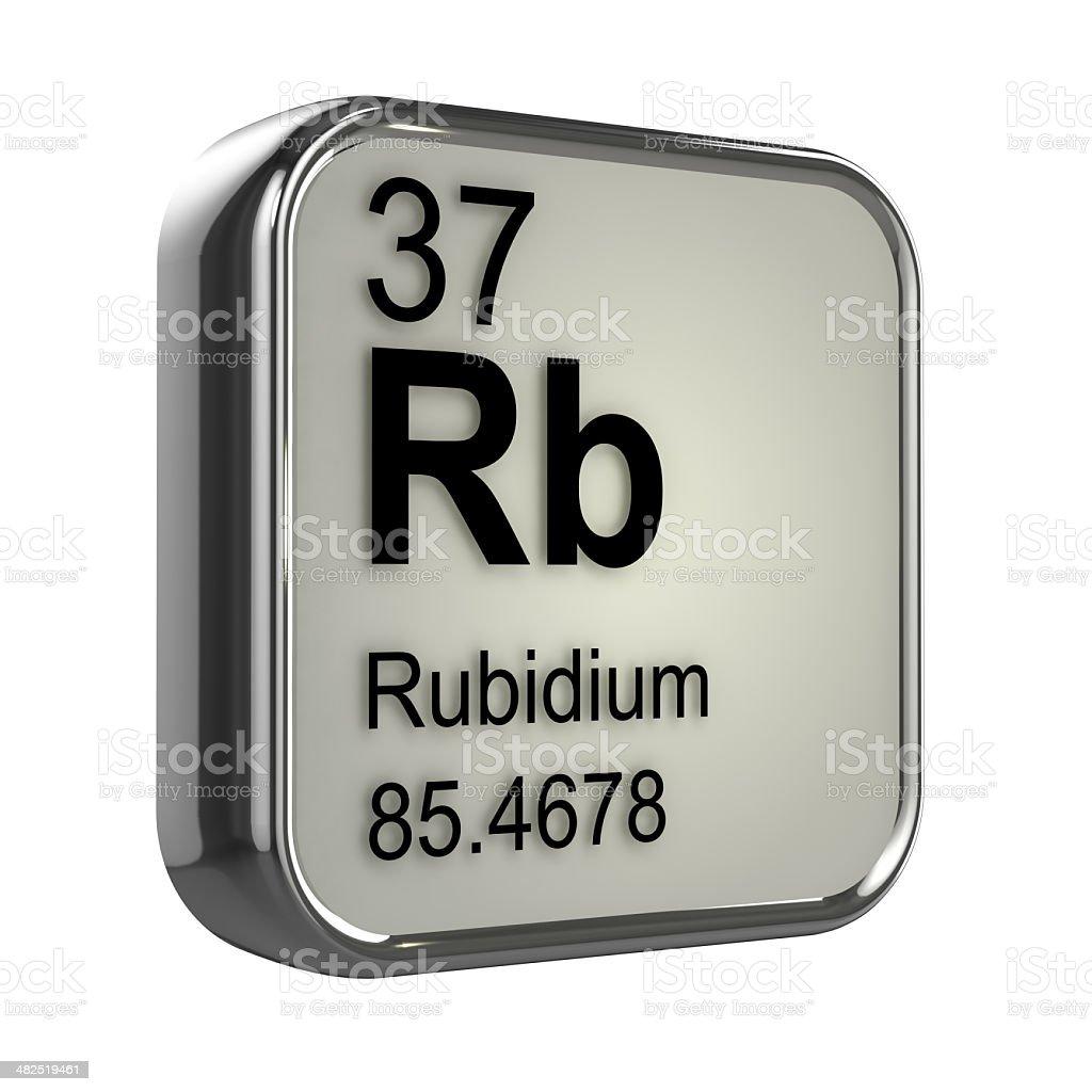 3d Rubidium element design stock photo