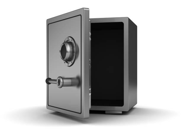 coffre-fort 3d - coffre fort équipement de sécurité photos et images de collection