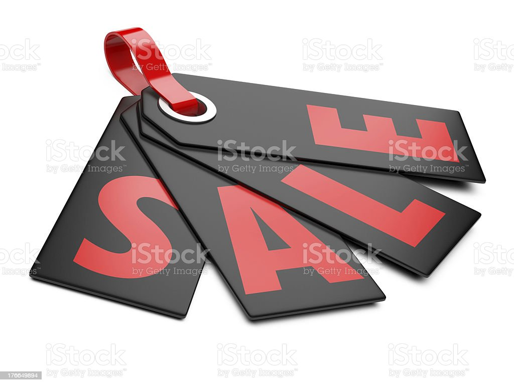 3d Sale tags royalty-free stock photo
