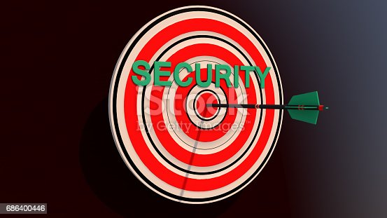 istock 3d security and arrow 686400446