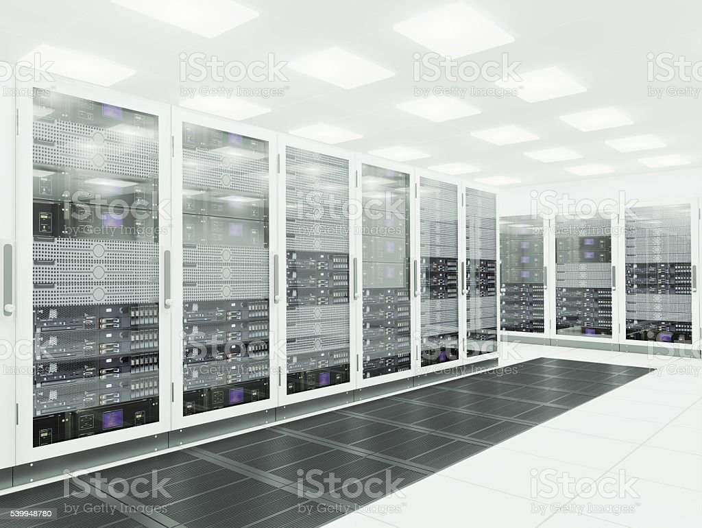 3d Server room stock photo