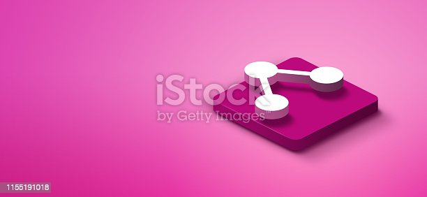 1151943994 istock photo 3d share icon on pink abstract background 1155191018